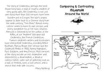 Comparing and Contrasting Cinderella Around the World Booklet