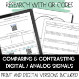Comparing and Contrasting Digital and Analog Waves- Research with QR codes.