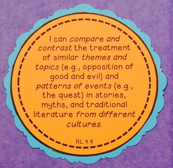 Comparing and Contrasting Folklore {RL.4.9}