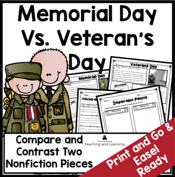 Memorial Day Compare and Contrast Activity