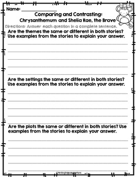 Comparing and Contrasting Kevin Henkes Stories RL 3.9
