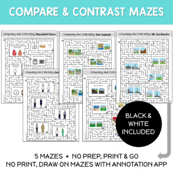 Comparing and Contrasting Mazes & No Print