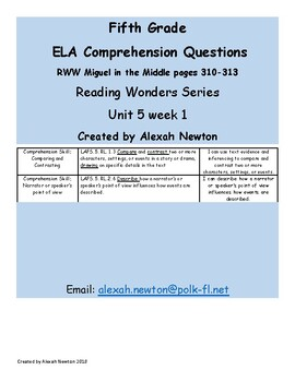 Comparing and Contrasting - McGraw Hill Reading Wonders Series U5W1