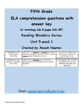 Comparing & Contrasting - McGraw Hill Reading Wonders Series Lit Anth U5W1