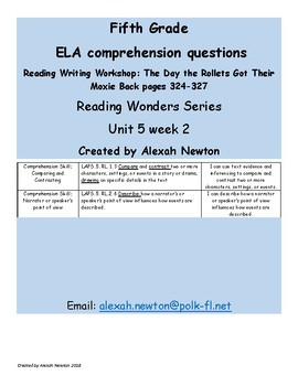 Comparing&Contrasting - McGraw Hill Reading Wonders Series RWW U5W2