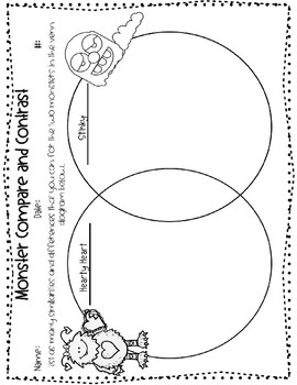 Comparing and Contrasting - Monster Craftivity - Scaffolded Learning