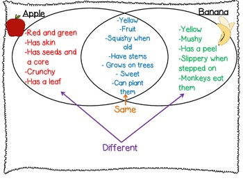 Comparing and Contrasting:: Picture cards and Venn Diagrams included::