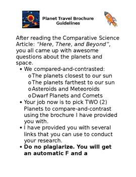 Planet Travel Brochure Guidelines