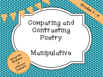 Comparing and Contrasting Poetry with Manipulatives for Stations