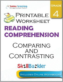 Comparing and Contrasting Printable Worksheet, Grade 4