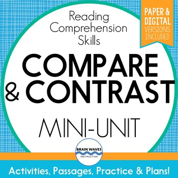 Compare And Contrast Passages And Worksheets For Comparing And