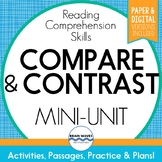 Compare and Contrast Passages Comparing and Contrasting Worksheets (Google Docs)