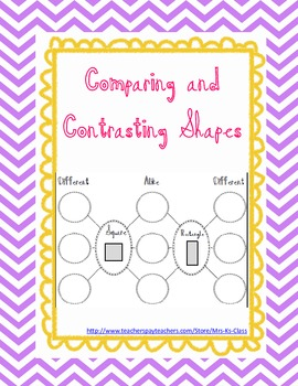 Comparing and Contrasting Shapes - Reasoning with Defining Attributes