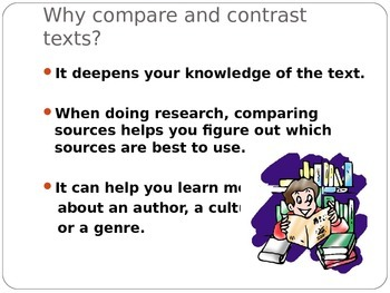 Power point: Comparing and Contrasting Texts