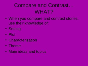 Comparing and Contrasting Texts Power Point