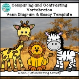 Comparing and Contrasting Two Vertebrates Graphic Organizer & Writing Template