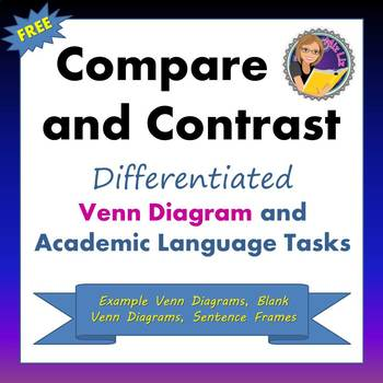 Compare And Contrast Differentiated Venn Diagram And Academic