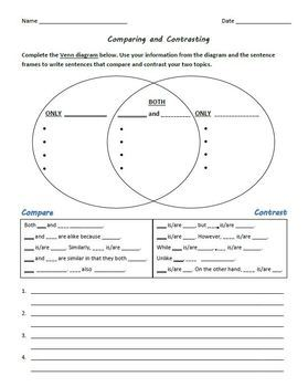 Compare and Contrast: Differentiated Venn Diagram and Academic Language Tasks