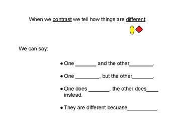 Comparing and Contrasting- sentence structure models