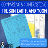 Comparing and Contrasting the Sun, Earth, and Moon | Printable and Digital