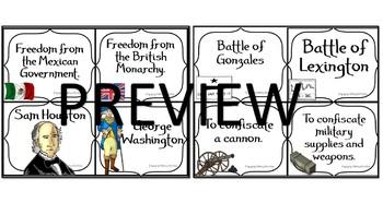 Compare & Contrast the Texas & the American Revolution Bundle