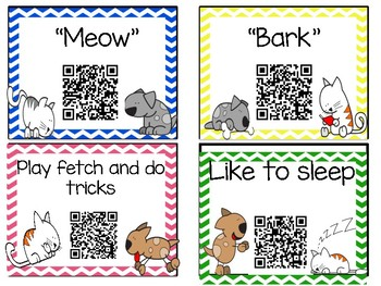 Comparing and Contrasting with QR Codes {Includes writing extension}