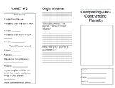 Comparing-and-Contrsating Planets Brochure