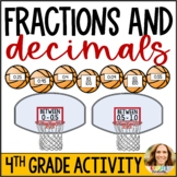 Comparing and Converting Fractions and Decimals Basketball Game