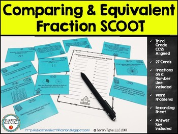 Comparing and Equivalent Fraction SCOOT