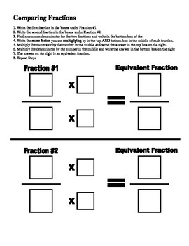 Comparing and Finding Equivalent Fractions