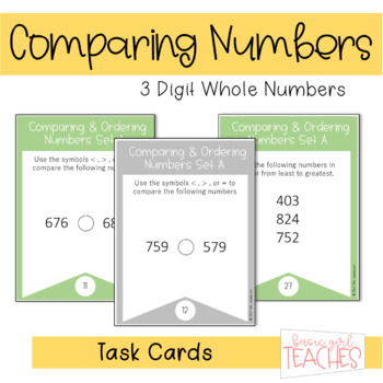 Comparing and Ordering 3 Digit Numbers