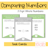 Compare and Order 3 Digit Whole Numbers Task Cards