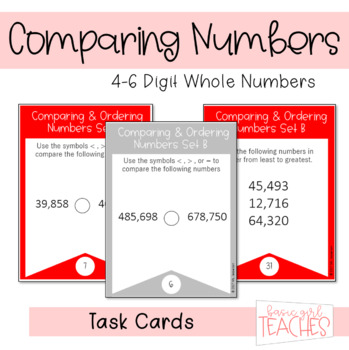 Comparing and Ordering 4-6 Digit Numbers