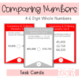 Compare and Order 4-6 Digit Whole Numbers Task Cards