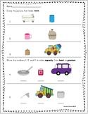 Comparing and Ordering Capacity in Kindergarten Freebie