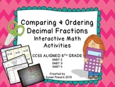 Comparing and Ordering Decimal Fractions Interactive Noteb