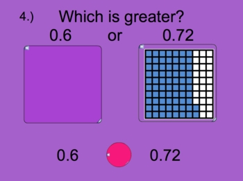 Comparing and Ordering Decimals Smartboard lesson with worksheet