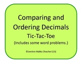Decimals Tic-Tac-Toe - Comparing and Ordering Decimals