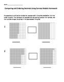 Comparing and Ordering Decimals Using Models