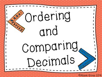Comparing and Ordering Decimals: Whole Group & Small Group Activity