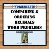 Comparing and Ordering Decimals Word Problems (3 worksheets)
