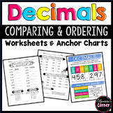 Comparing and Ordering Decimals Worksheets