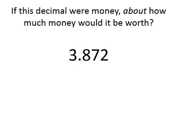 Comparing and Ordering Decimals by Relating Decimals to Money