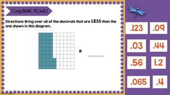 Comparing and Ordering Decimals for Google Classroom