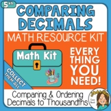 Comparing and Ordering Decimals to Thousandths 5th Grade Math Kit