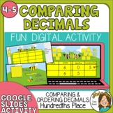Comparing and Ordering Decimals to the hundredths Digital