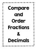 Comparing and Ordering Fraction and Decimals on a Number L
