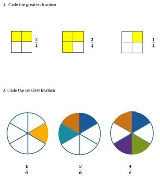 Fractions 3rd, 4th Grade Worksheets Bundle - Comparing and Ordering Fractions