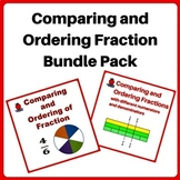 Fractions 3rd, 4th Grade Worksheets Bundle - Comparing and