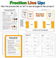 Comparing and Ordering Fractions Activities | Fraction Line Up Lesson and Game